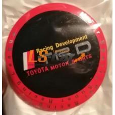 "Наклейка  OR-3 ""TRD"" (диаметр 65мм.) на автомоб, колпаки, диски, металлизированный/комп. 4шт."