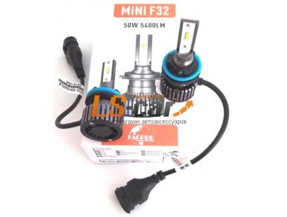 Лампа головного света со светодиодами CREE H3-F32 MINI 25W/2700LM 9-36V (со встр, вентилятором)
