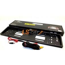 Рамка заднего номерного знака JX9488 БЕЛАЯ пластик с камерой заднего (кабели подключения к LED или ЖК-дисплеям)