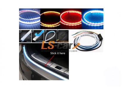 Светодиодная лента на дверь багажника DL72LED RGB красный\синий\желтый с функцией повторителя задних фонарей (динамический стример) 120см 12V
