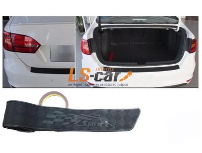 Накладка зоны погрузки багажника KLNT-DG908 резиновая на 3М-скотче SPORTS