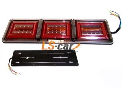 Блок фонарей MS-01 24V задних светодиодных (к-т 2 шт ПРАВЫЙ/ЛЕВЫЙ) на груз а\м 46*13*2см