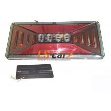 Блок фонарей MS-02 24V задних светодиодных (к-т 2 шт) на груз а\м 33*14*2см  УНИВЕРСАЛЬНЫЕ