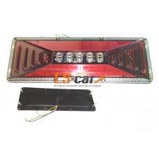 Блок фонарей MS-03 24V задних светодиодных (к-т 2 шт) на груз а\м 40,5*14*2см УНИВЕРСАЛЬНЫЕ