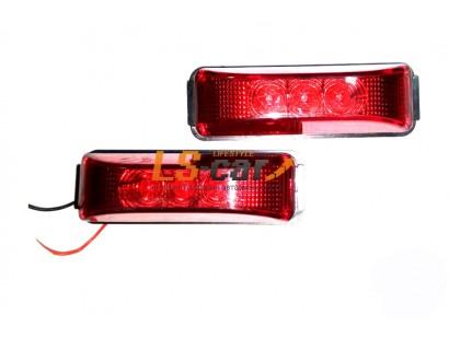 Фонарь MS-07 RED 24V габаритный светодиодный красный (к-т 2 шт) на груз а\м
