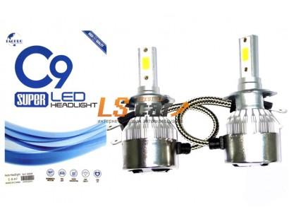 Лампа головного света со светодиодами CREE H4-C9  55/36W 3800LM 6000K 12V(со встр, вентилятором)
