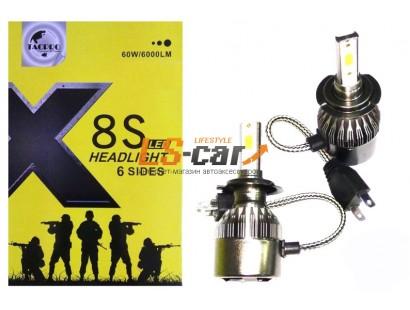 Лампа головного света со светодиодами CREE HB3-9005-X8S 30W/3000LM  12V(со встр, вентилятором)
