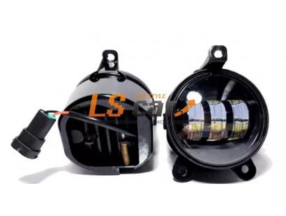 Фара противотуманная W-3 со светодиодами на Лада-Приора (к-т 2 шт)