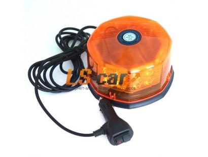 Маяк проблесковый светодиодный 830S-30 Y/Y 32 LED оранжевый