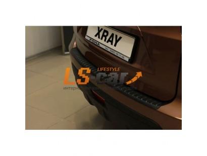 "Накладка на бампер пластик Lada Xray ""AVENUE"""