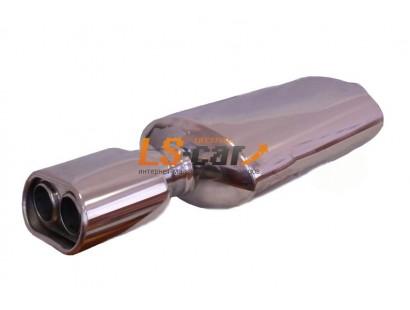 Глушитель прямоточный, спортивный HJ-A0044