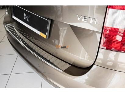 "Накладка на бампер Skoda Yeti 2014- ""Alvi-Style"""