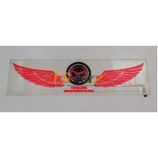 "Эквалайзер на стекло ""Крылья ангела - логотип Mazda"", прозрачный фон, 90х25см"