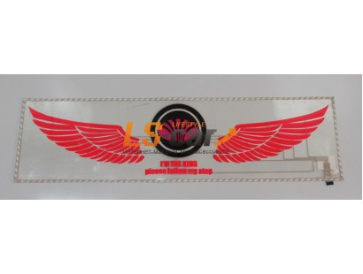 "Эквалайзер на стекло ""Крылья ангела - логотип Daewoo"", прозрачный фон, 90х25см"