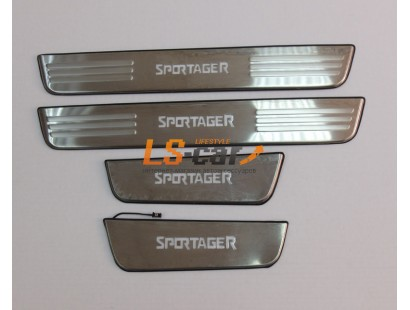 Накладки на пороги светящиеся Kia Sportage 3 2010-2016