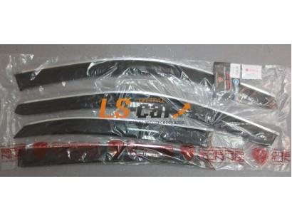 "Дефлекторы окон накладные LEXUS RX III 350\450h (2009-) ""COBRA"" хром молдинг"
