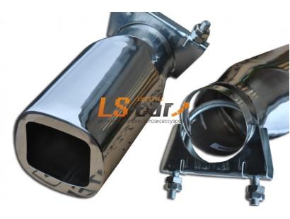 Насадка на глушитель нержавеющая сталь HJ-B004 (в упаковке)