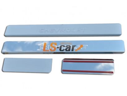 Накладки на пороги Chevrolet Cobalt (штамп)