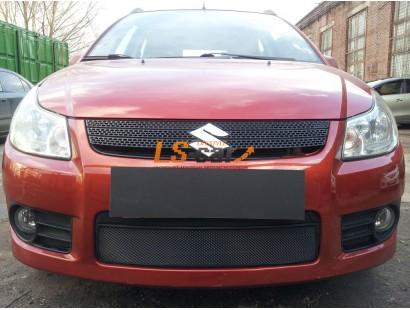 Защита радиатора Suzuki SX4 hb sedan 2006-2007(венгерская сборка)black