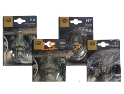 "Лампа галогеновая ""Hella""  в блистере H4 12V+50%  8GB 002 525-471"