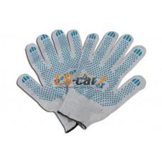Перчатки для  ремонта с покрытием Dollex  х/б с ПВХ, 5 ниток,10 класс, 1/200 пар/37389