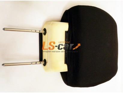 Чехлы объемные для подголовников  передних сидений Лада Гранта (2 шт) , черный, ткань