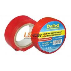 Лента изоляционная Dollex ПВХ (PVC) красная 19 мм х 9,10 м/ET-1319RED