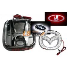 Подсветка эмблемы светодиодная для Toyota Сrown, 3D эффект(цвет: красный) /10