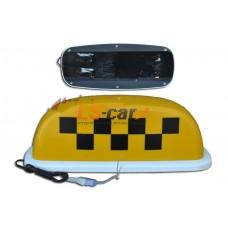 Знак ТАКСИ малый желтый  (защитная пленка,разъем для подключения, 4 магнита)  15/TX-sm-y