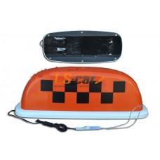 Знак ТАКСИ малый оранжевый (защитная пленка,разъем для подключения, 4 магнита)  15/TX-sm-o