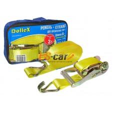 Стяжка для крепления груза (6м х 38мм), 3,0т(лента полиэстер+механизм) в сумке Dollex/ST-063830