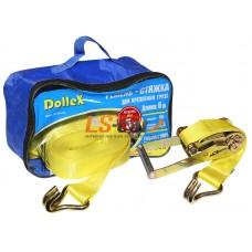 Стяжка для крепления груза (6м х 50мм), 5т(лента полиэстер+механизм) в сумке Dollex/ST-065005