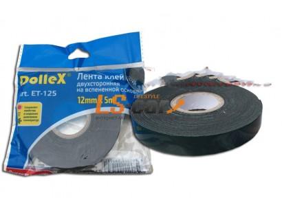 Скотч двухсторонний Dollex 12мм х 5м/ET-125