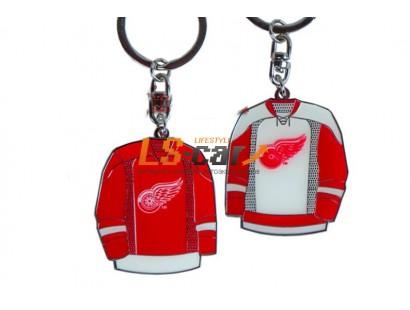 Брелок металлический Red wings. Хоккейка (68) 55009