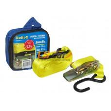 Стяжка для крепления груза (6м х 25мм), 0.9т(лента полиэстер+механизм) в сумке Dollex/ST-062509