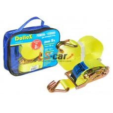 Стяжка для крепления груза (10м х 38мм), 3.0т(лента полиэстер+механизм) в сумке Dollex/ST-103830