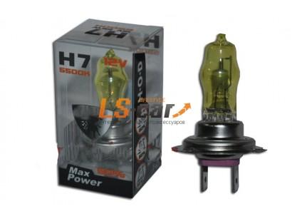 "Лампа галогеновая   H7 ""HOD-LUMAX"" 12V55W+50% (SOLAR YELLOW 2800K)"