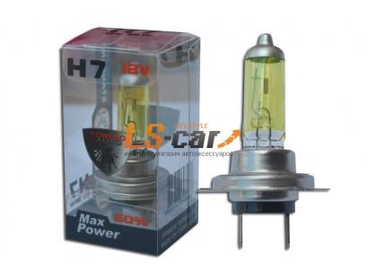 Лампы галогеновые  H7-YELLOW 12V55W   (стандарт)