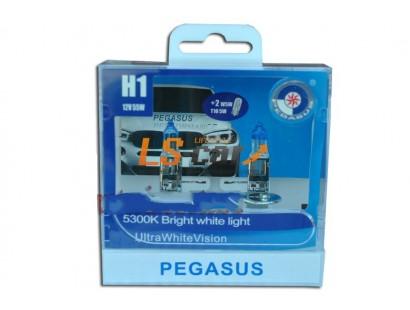 """Лампа галогеновая  H1 +габаритная T10 """" PEGASUS """" 12V55W  (комплект 4шт)"""