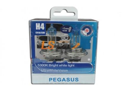 """Лампа галогеновая  H4 +габаритная T10  """" PEGASUS """" 12V60/55W P43T  (комплект 4шт)"""