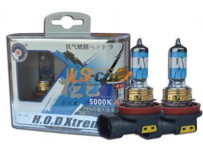 """Лампа галогеновая """"HOD XTREME""""A  5000K +50%  H8 12V35W  (комплект 2шт)"""