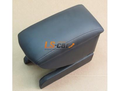 Подлокотник для автомобиля Skoda Rapid 2012-... чёрный, кожзам