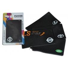Коврик панели противоскользящий NT15х9см, Логотип /BMW/ силиконовый черный