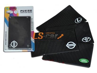 Коврик панели противоскользящий NT15х9см, Логотип /MAZDA/ силиконовый черный