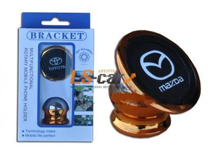 Держатель для мобильного телефона магнитный с  логотипом LADA, поворотный на 360гр.