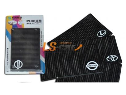 Коврик панели противоскользящий NT15х9см, Логотип /GREAT WALL/ силиконовый черный