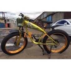"""Велосипед Fatbike  26 """" 2016г. Цвет: зотолой, алюминевый  корпус, 24 скорости, диаметр колеса 26, резина 26*4 дюйма,"""