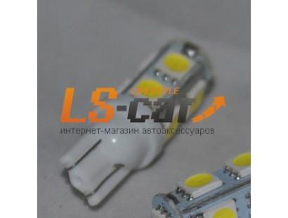 Светодиодная лампа для а/м T10-5050-9SMD  (белый 9-светодиодов) 24V