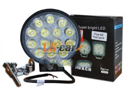Фонарь светодиодный 27 type 42W Spot Light 14-LED (дальний) (9-30V) G14-42W-Y
