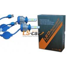 Лампа головного света со светодиодами CREE H1 36W-3600LM/BLUE/ 9-36V(со встр, вентилятором)